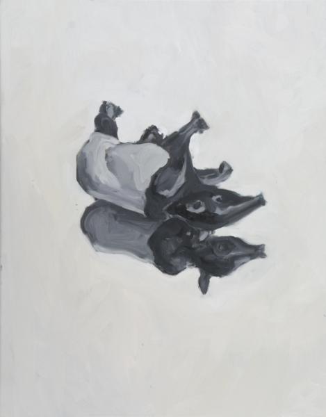 huile sur toile, 70x55 cm