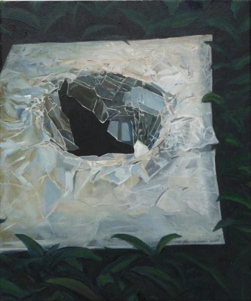 huile sur toile, 54x45 cm
